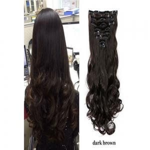 Dark brown dial dark 24inch todo 24inch wig curly single style 8 todo 24inch wig curly single style 8 piece 18 clip hair extensions pmusecretfo Image collections