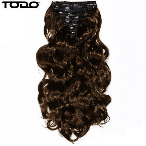 Unique TODO 24inch Wig Curly Single Style 8-piece 18-clip Hair Extensions