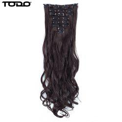 TODO 24inch Wig Curly Single Style 8-piece 18-clip Hair Extensions -