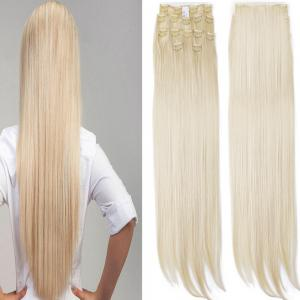 Todo Straight Wig 8-piece 18-clip Hair Extension - BLONDE #613 22INCH