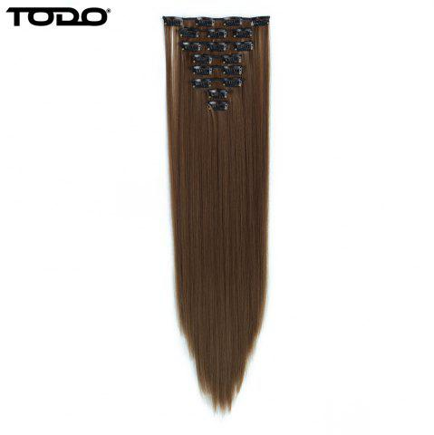 Latest Todo Straight Wig 8-piece 18-clip Hair Extension LIGHT BROWN 22INCH