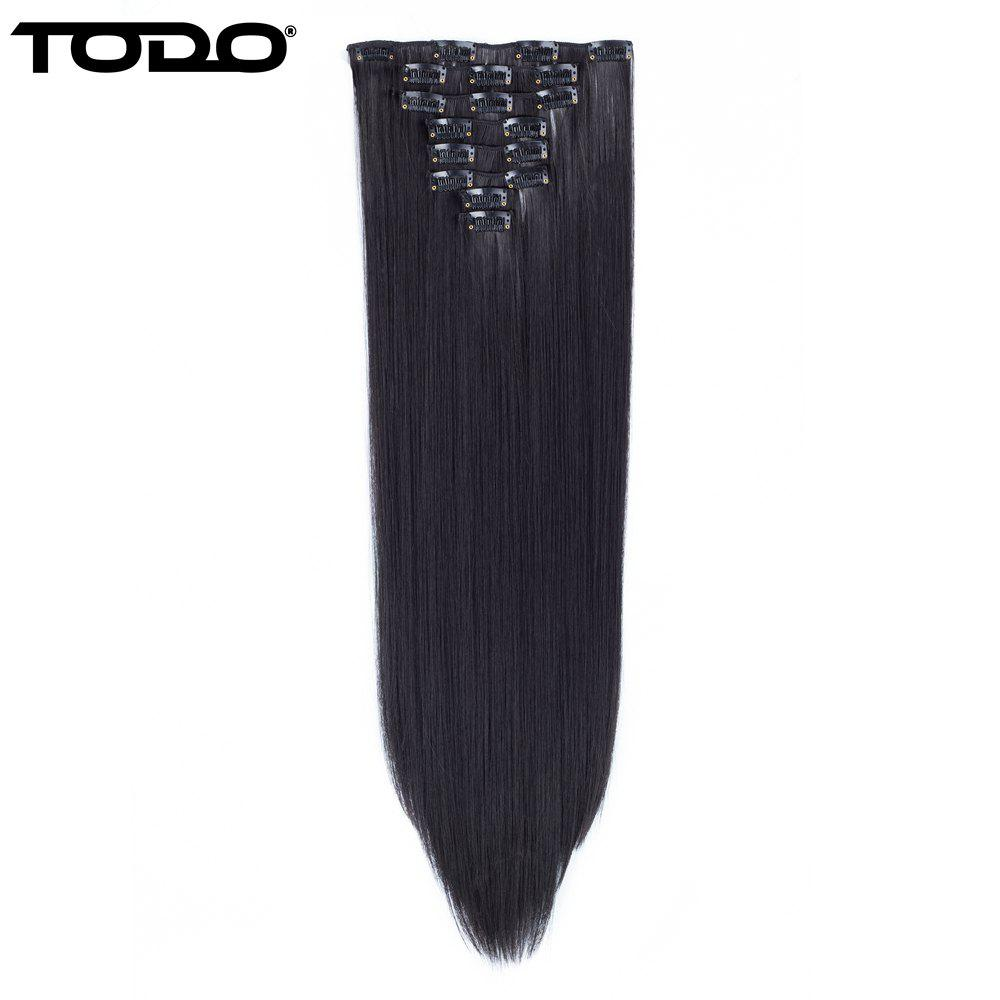 Cheap Todo Straight Wig 8-piece 18-clip Hair Extension