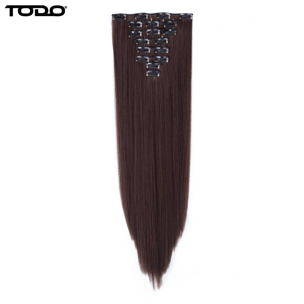 Hot Todo Straight Wig 8-piece 18-clip Hair Extension