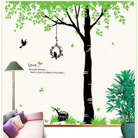 Outfit Dining Room Wall Home Furnishing Decorative Wall Stickers Green Tree
