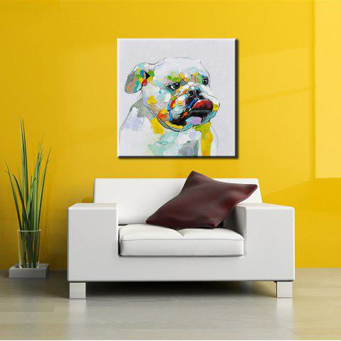 Buy YHHP Hand Painted Abstract Dog Decoration Canvas Oil Painting