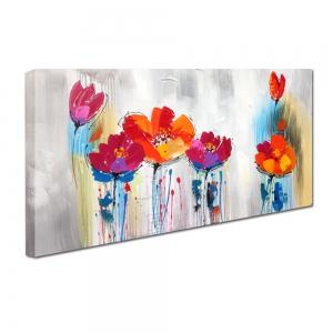 YHHP Hand Painted Abstract Art Flowers Decoration Canvas Oil Painting -