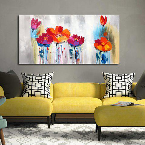 Affordable YHHP Hand Painted Abstract Art Flowers Decoration Canvas Oil Painting