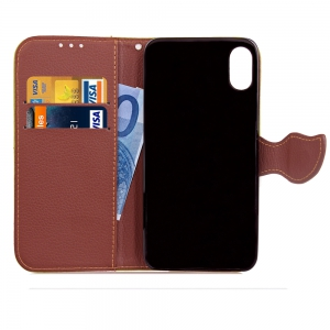 Yc Leaf Card Lanyard Pu Leather foriPhone 8 -