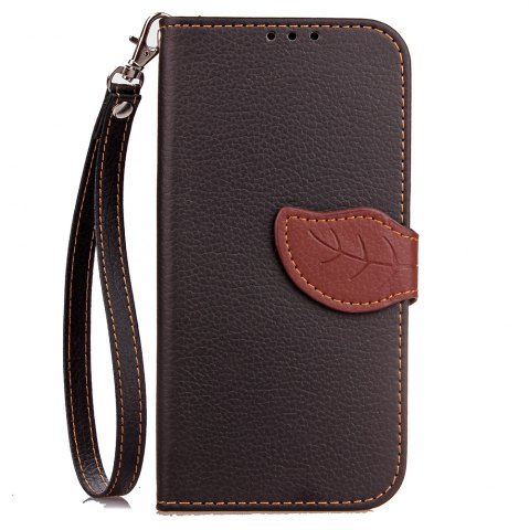Latest Yc Leaf Card Lanyard Pu Leather for iPhone X