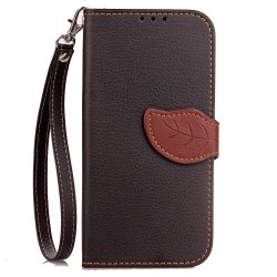 Yc Leaf Card Lanyard Pu Leather for iPhone X -