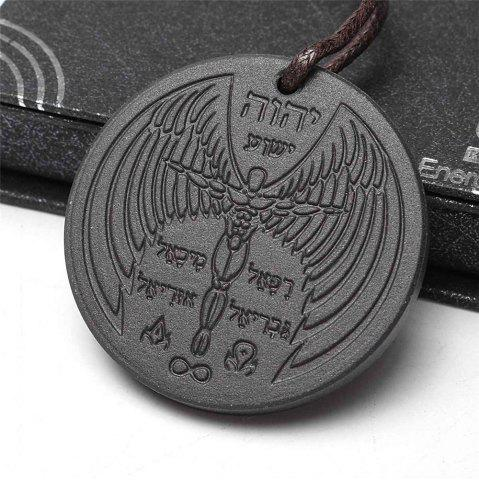 Best Angel Spiritual Design Quantum Science Scalar Energy Pendant Necklace - BLACK  Mobile