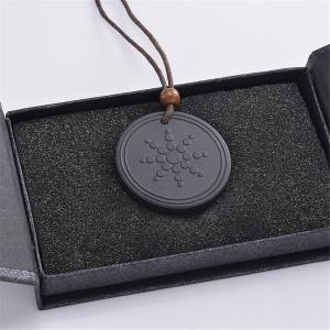 Quantum Pendant Lava Negative Ion Energy Necklace with Box And Card -