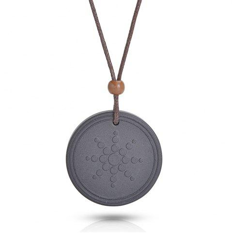 Black quantum pendant lava negative ion energy necklace with box new quantum pendant lava negative ion energy necklace with box and card aloadofball Choice Image