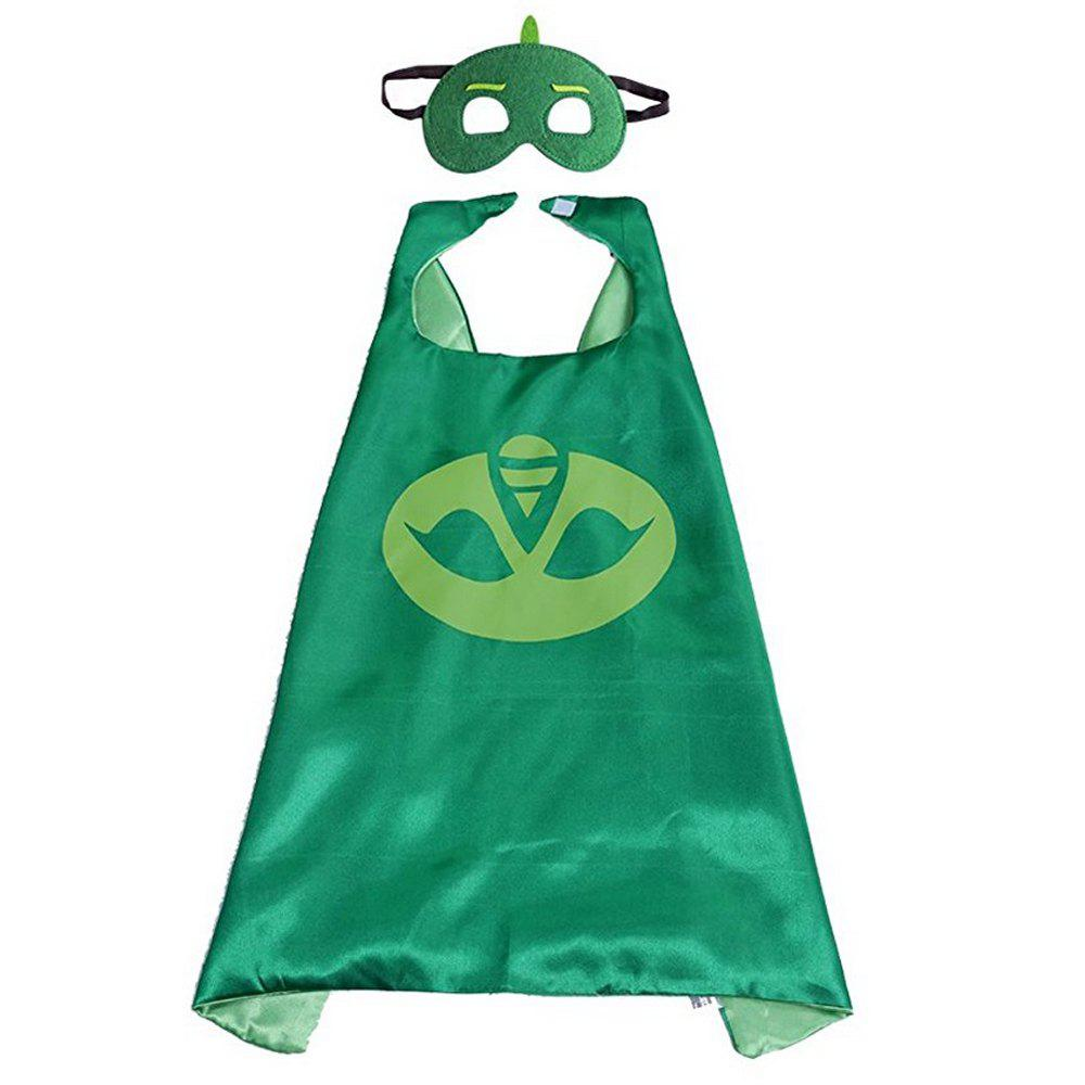 Masks Capes And Costume Sets for Kids, Dress Up Pretend Play Kids Costumes for Cosplay PartyACCESSORIES<br><br>Color: GREEN;