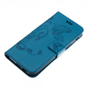 Wkae Flowers Embossing Pattern PU Leather Flip Stand Case Cover for Samsung Galaxy A5 2017 -