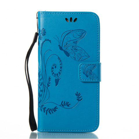 Affordable Wkae Flowers Embossing Pattern PU Leather Flip Stand Case Cover for Samsung Galaxy A5 2017