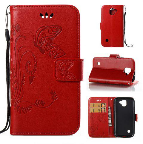 Shops Wkae Flowers Embossing Pattern Pu Leather Flip Stand Case Cover for Lg K3 2017