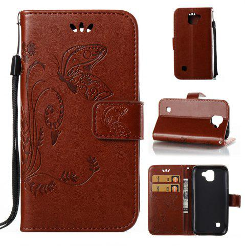Shop Wkae Flowers Embossing Pattern Pu Leather Flip Stand Case Cover for Lg K3 2017