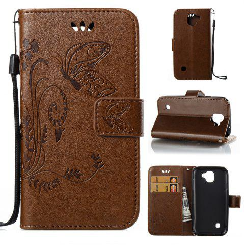 Cheap Wkae Flowers Embossing Pattern Pu Leather Flip Stand Case Cover for Lg K3 2017