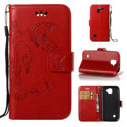 Wkae Flowers Embossing Pattern Pu Leather Flip Stand Case Cover for Lg K3 2017 -