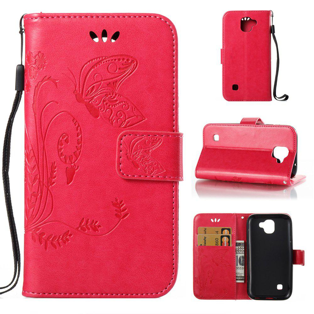 Best Wkae Flowers Embossing Pattern Pu Leather Flip Stand Case Cover for Lg K3 2017