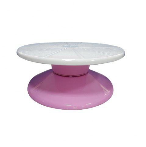 Trendy Turnable Cake Decorating Stand 11 Inch Round Food-Grade Plastic Detachable Base