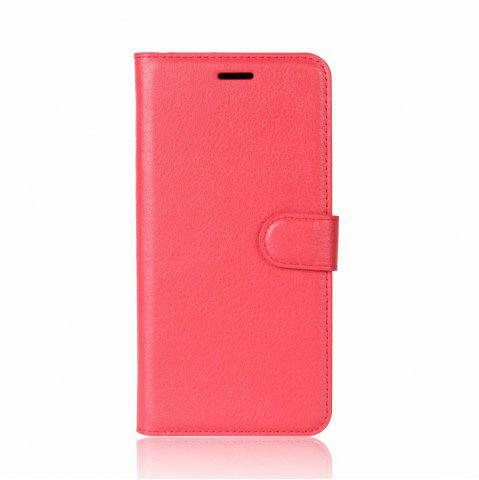 Buy Solid Color Litchi Pattern Wallet Style Front Buckle Flip PU Leather Case with Card Slots for Sony Xperia XZ1 Compact