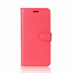 Solid Color Litchi Pattern Wallet Style Front Buckle Flip PU Leather Case with Card Slots for Sony Xperia XZ1 Compact -