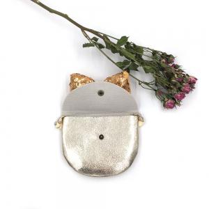Children Sequined Bow Inclined Shoulder Bag Shiny Leather Shildrens Small Bag -