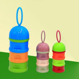 Baby Milk Powder Storage Three Layered Colorful Multi Functional Baby Product -