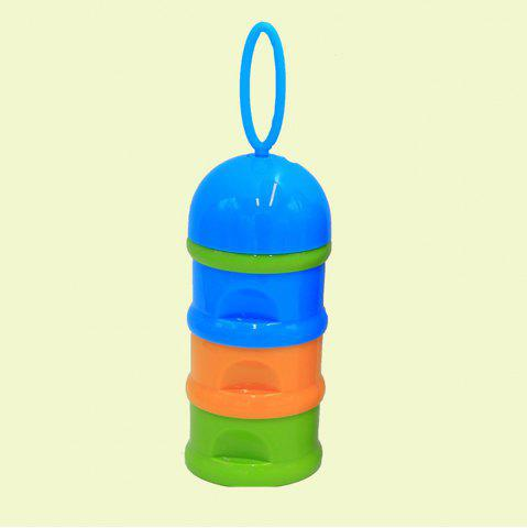 Best Baby Milk Powder Storage Three Layered Colorful Multi Functional Baby Product CORNFLOWER