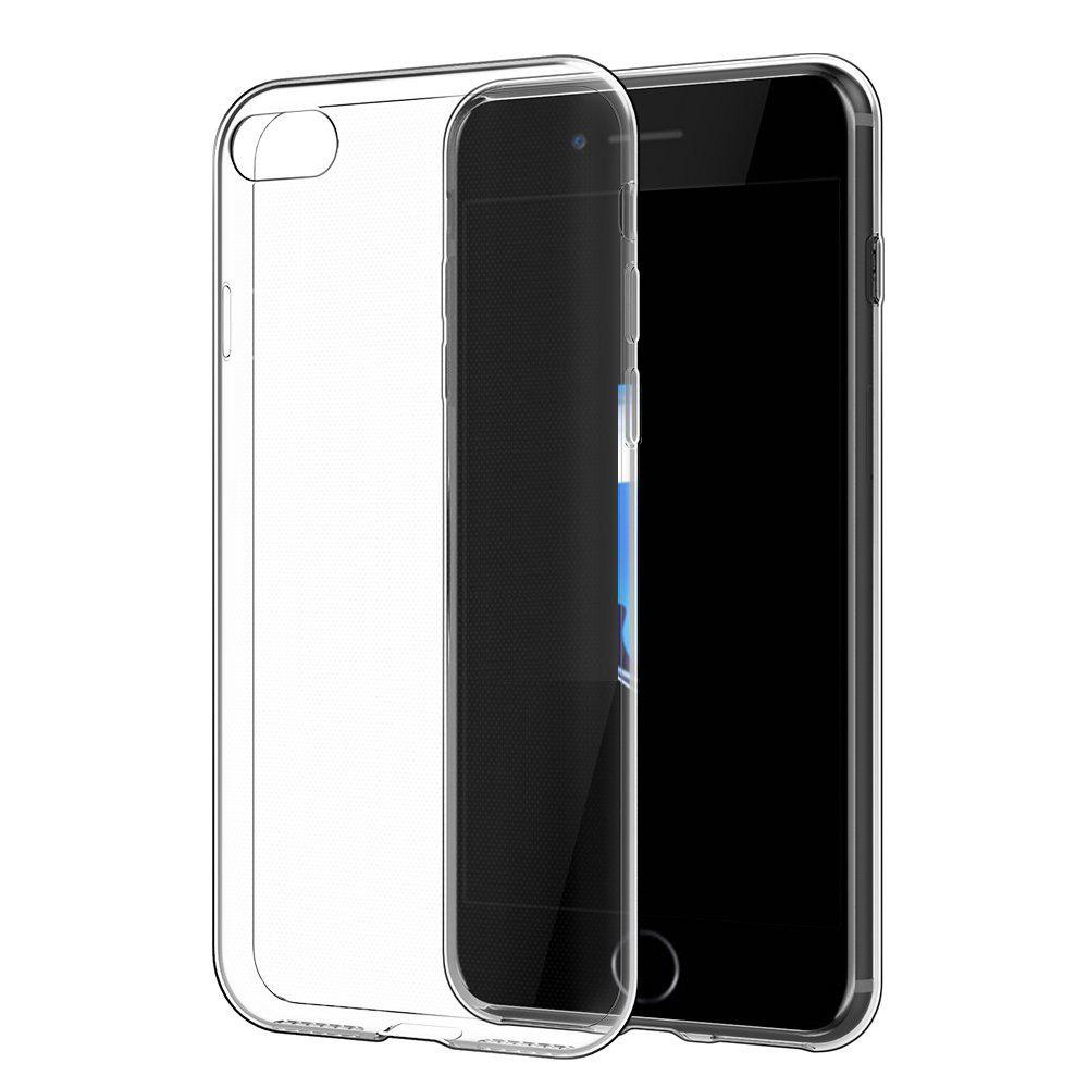 Ultrathin Shock-absorption Bumper Tpu Clear Case for iPhone 7HOME<br><br>Color: TRANSPARENT;