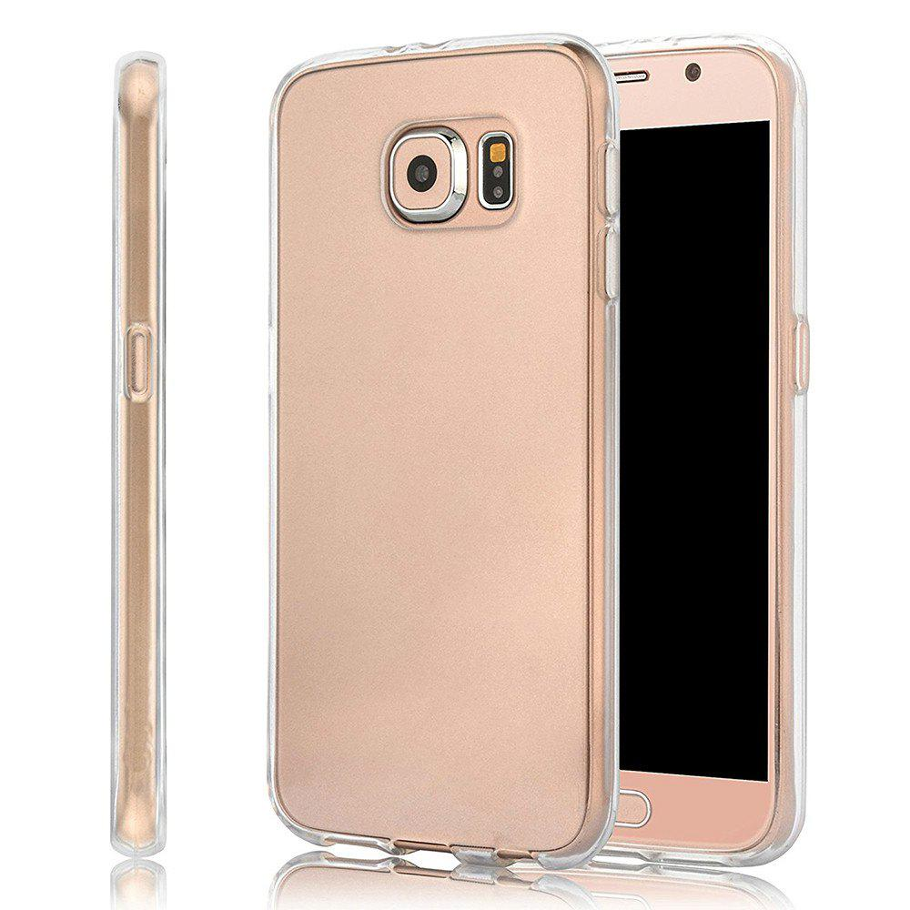 Ultrathin Shock-absorption Bumper TPU Clear Case for Samsung Galaxy S6HOME<br><br>Color: TRANSPARENT;