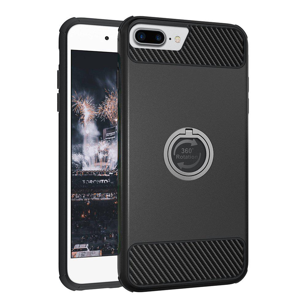 Rugged Rubber Heavy Duty Tough Dual Layer 2 In 1 360 Degree Rotating Ring Kickstand Protective Case for Iphone 6S Plus / 6 PlusHOME<br><br>Color: BLACK;