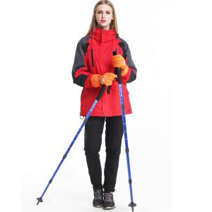 Aluminum Alloy Telescopic Cane Outdoor Alpenstock 4 Sections for Men And Women Camping Hiking Trekking Pole Canes -
