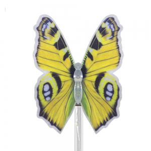 3PCS Solar Fiber Optic Color-changing Butterfly Garden Stake Light - BLACK AND SILVER