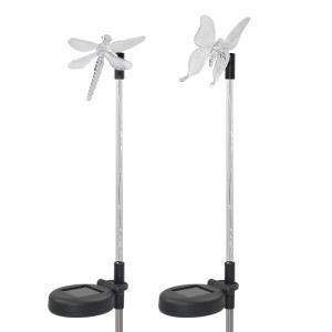 2PCS Solar Color-changing Butterfly Garden Stake Light -