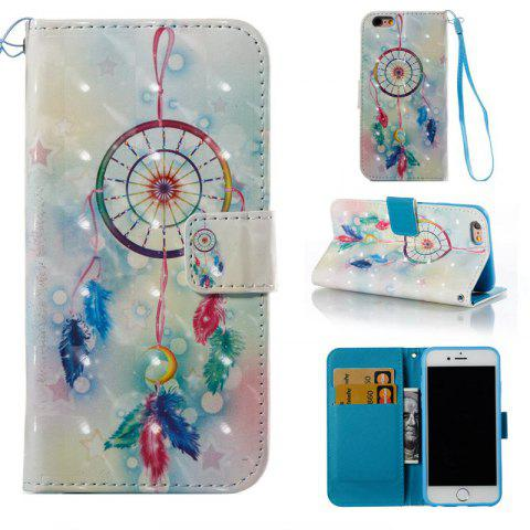 Fashion Feather Wind Chimes 3D Painted Pu Phone Case for Iphone 6S 6