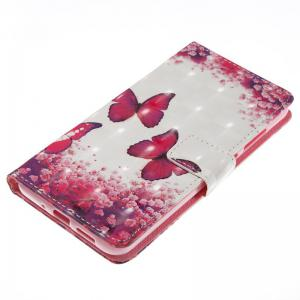 Rose Butterfly 3D Painted Pu Phone Case for Huawei P10 Lite -