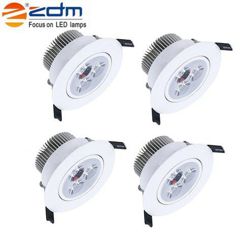 Hot ZDM 4PCS 5W 400 - 450LM LED Low Voltage Led Ceiling Lamp Warm / Cool / Natural AC12V / 24V