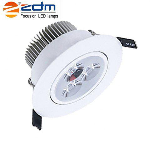 Trendy ZDM 3X2W 400-450LM LEDCeiling Lamps Warm / Cool / Natural White AC85-265V - AC85-265V COLD WHITE LIGHT Mobile