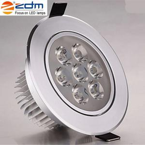 ZDM 4PCS 7W 700 - 750LM Dimmable LED Ceiling Lamps Warm / Cool / Natural AC 110/220V - NATURAL WHITE LIGHT AC110V