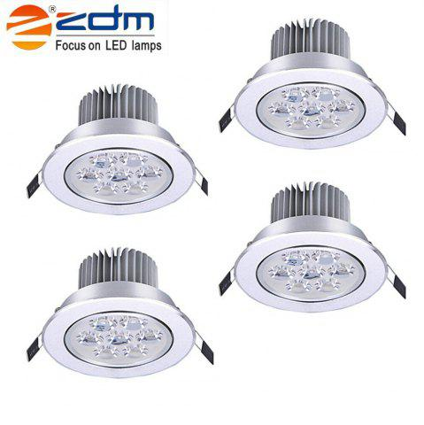 Fancy ZDM 4PCS 7W 700 - 750LM Dimmable LED Ceiling Lamps Warm / Cool / Natural AC 110/220V - COLD WHITE LIGHT AC220V Mobile