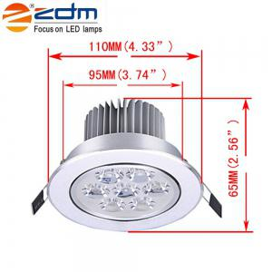 ZDM 4PCS 7W 700 - 750LM Lampes de plafond à basse tension Led chaud / Cool / Natural White AC12V / 24V -