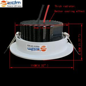 ZDM 2PCS 7W 750 - 850LM Dimmable Thick Radiator Lampes de plafond LED Warm / Cool / Natural White AC110V / 220V - Blanc Froid AC110V