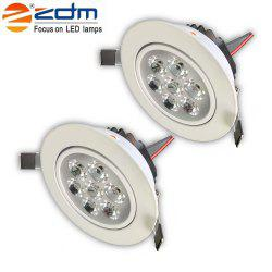 ZDM 2PCS 7W 750 - 850LM Dimmable Thick Radiator Lampes de plafond LED Warm / Cool / Natural White AC110V / 220V -