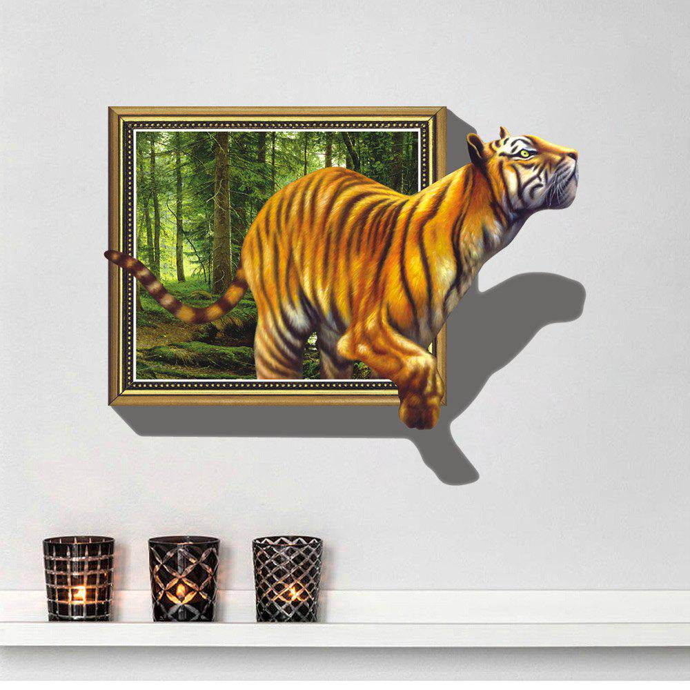 3D Wall Sticker Tiger Pattern Decal Room DecorHOME<br><br>Size: 70 X 100CM; Color: MIXED COLOR;