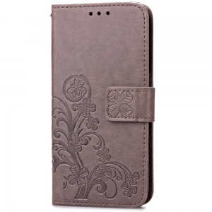 Yc Lucky Clover Holster Leaf Card Lanyard Pu Leather pour HUAWEI Honneur 8 -