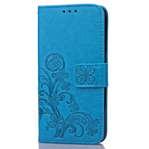 Yc Lucky Clover Holster Leaf Card Lanyard Pu Leather for HUAWEI Honor 8 -