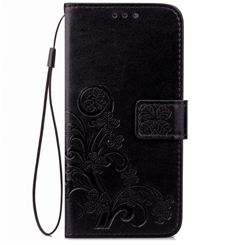 Hot Yc Lucky Clover Holster Leaf Card Lanyard Pu Leather for HUAWEI Honor 8